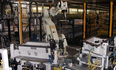 Jaguar Roller Hem Nest and Robot